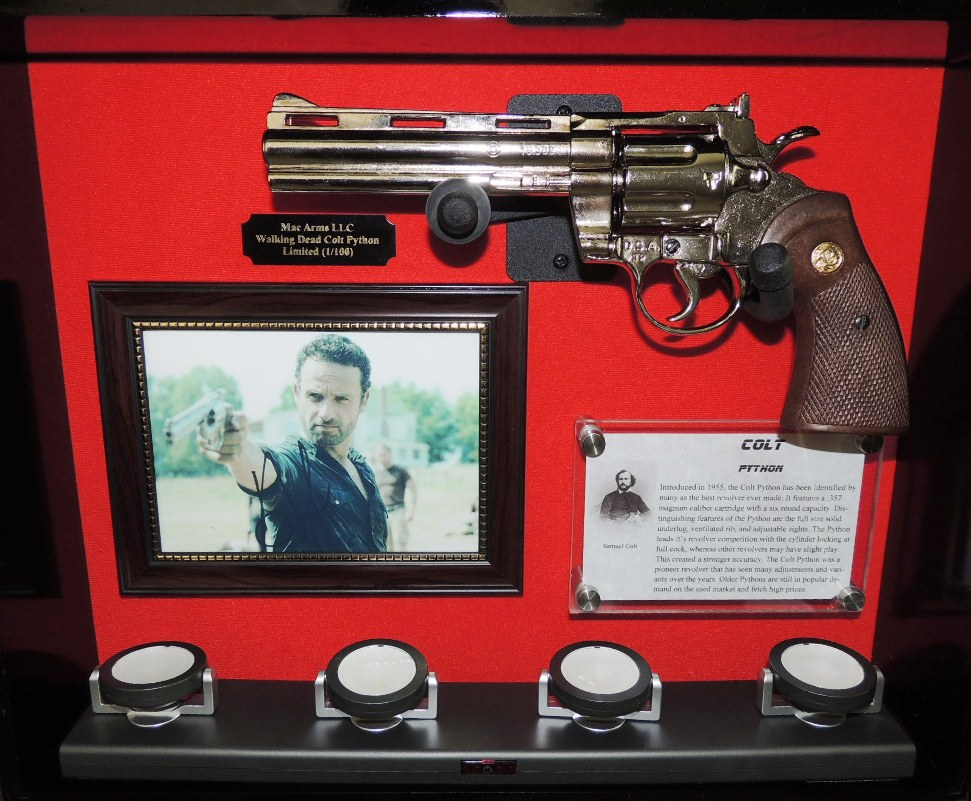 LIMITED EDITION The Walking Dead Colt Python Display Case