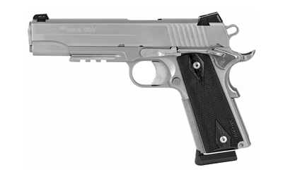 "SIG 1911R 45ACP 5"" 8RD STS FIXED NIGHT SIGHTS BLKWOOD"