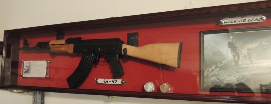 Custom Designed The Walking Dead Ak47 Rifle Display Case