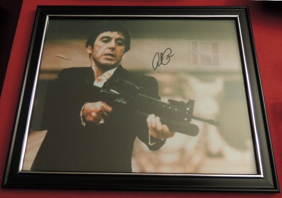 Scarface Al Pacino Tony Montana Signed Photo Print Alscar01